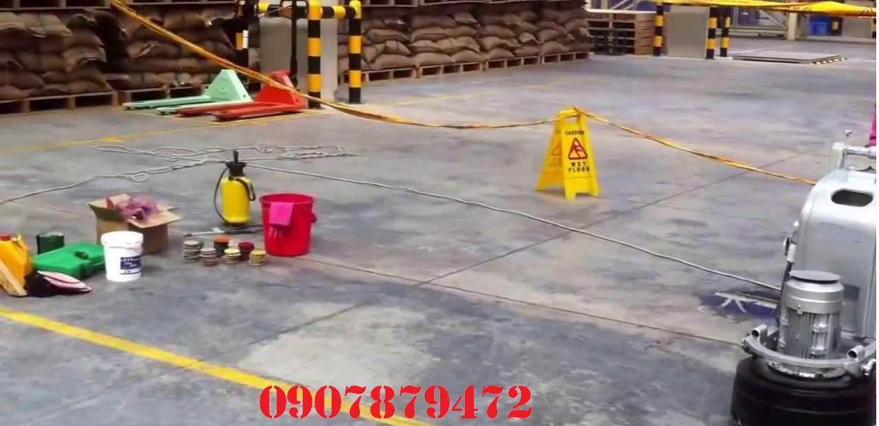 quy trình mài sàn đánh bóng bê tông
